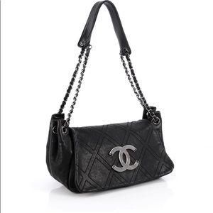 Chanel Diamond Stitched Accordian shoulder Bag